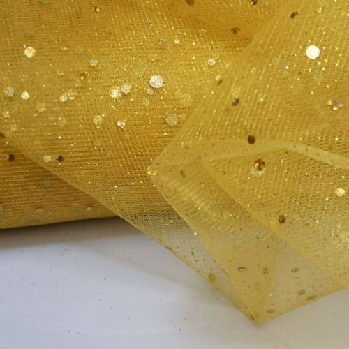 Enhanced Gold Soft Tulle 54""